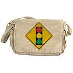 Signal Ahead Caution Sign Messenger Bag
