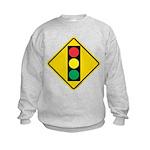 Signal Ahead Caution Sign Kids Sweatshirt