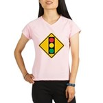 Signal Ahead Caution Sign Performance Dry T-Shirt