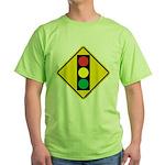 Signal Ahead Caution Sign Green T-Shirt