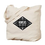 Kansas Girls Kick Ass Tote Bag