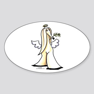 Afghan Angel Sticker (Oval)