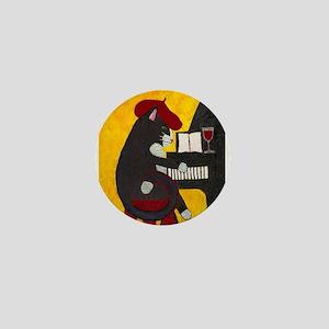 Tuxedo Cat and Piano Mini Button