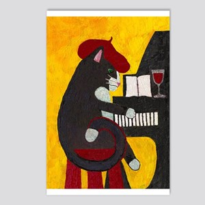 Tuxedo Cat and Piano Postcards (Package of 8)
