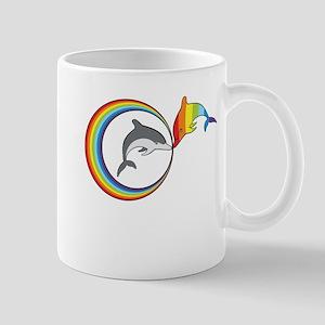 Rainbow Dolphin Mug