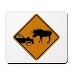 Moose Sign Newfoundland Mousepad
