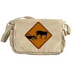 Moose Sign Newfoundland Messenger Bag