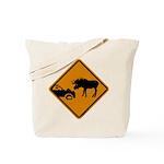 Moose Sign Newfoundland Tote Bag