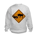 Moose Sign Newfoundland Kids Sweatshirt