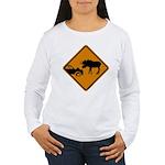 Moose Sign Newfoundland Women's Long Sleeve T-Shir