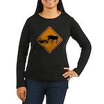 Moose Sign Newfoundland Women's Long Sleeve Dark T