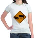 Moose Sign Newfoundland Jr. Ringer T-Shirt