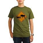 Moose Sign Newfoundland Organic Men's T-Shirt (dar