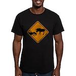 Moose Sign Newfoundland Men's Fitted T-Shirt (dark