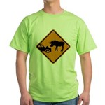 Moose Sign Newfoundland Green T-Shirt