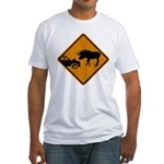 Moose Sign Newfoundland Fitted T-Shirt