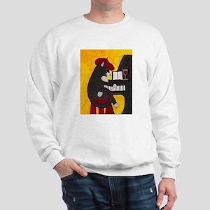 Tuxedo Cat and Piano Sweatshirt