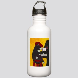 Tuxedo Cat and Piano Stainless Water Bottle 1.0L