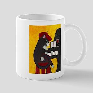 Tuxedo Cat and Piano Mug