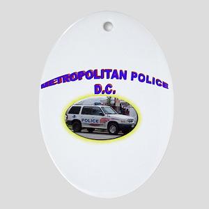 Washington D C Polic Ornament (Oval)