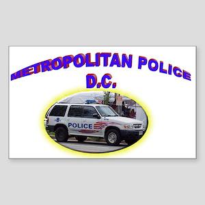Washington D C Polic Sticker (Rectangle 10 pk)