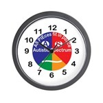 Autistic Spectrum Wall Clock