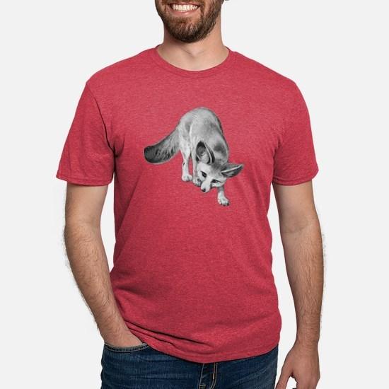 Fennec Desert Fox Mens Tri-blend T-Shirt