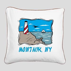 Montauk, NY Square Canvas Pillow