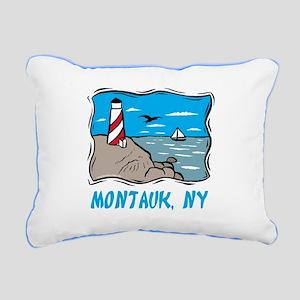 Montauk, NY Rectangular Canvas Pillow
