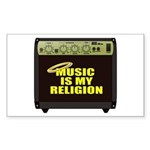 Music is my religion Sticker (Rectangle)