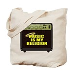 Music is my religion Tote Bag