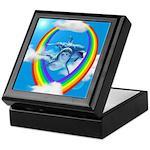 Rainbow Dolphin Keepsake Box