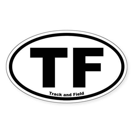Track and Field Oval Sticker