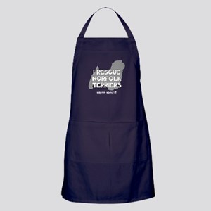 I RESCUE Norfolk Terriers Apron (dark)