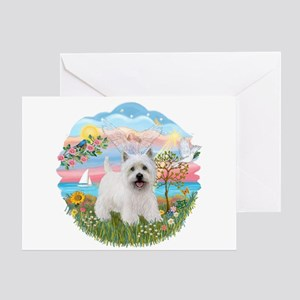 AngelStar-Westie5 Greeting Card