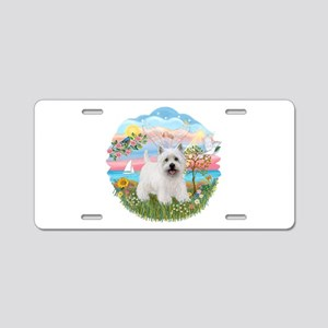 AngelStar-Westie5 Aluminum License Plate