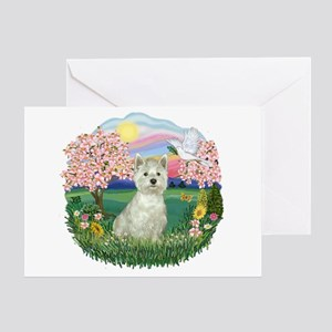 Blossoms-Westie#8 Greeting Card
