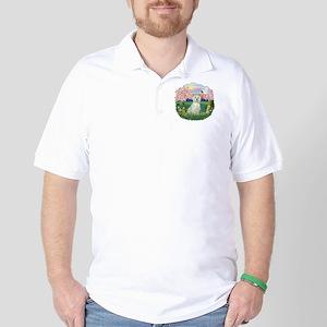 Blossoms-Westie#8 Golf Shirt
