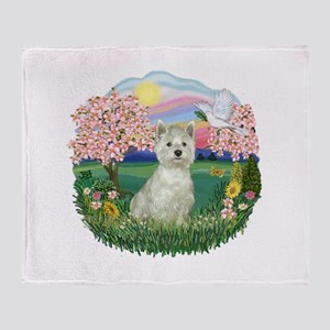 Blossoms-Westie#8 Throw Blanket