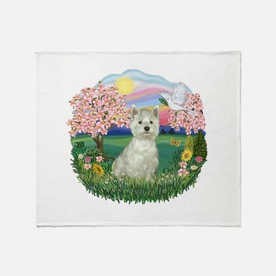 Blossoms-Westie#8 Throw Blanket
