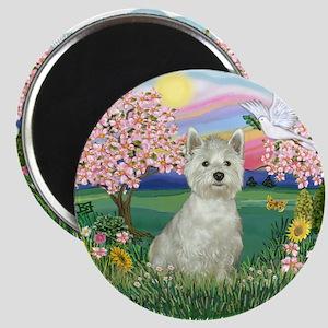 Blossoms-Westie#8 Magnet