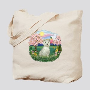 Blossoms-Westie#8 Tote Bag