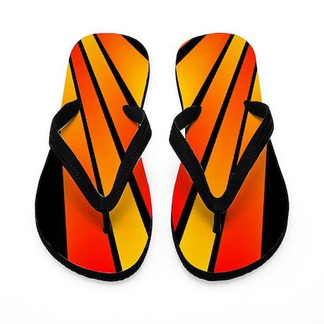 Retro Sunshine Flip Flops