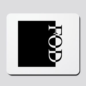 FOD Typography Mousepad