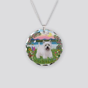 Garden-Shore-Westie#5 Necklace Circle Charm