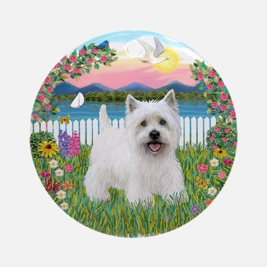 Garden-Shore-Westie#5 Ornament (Round)