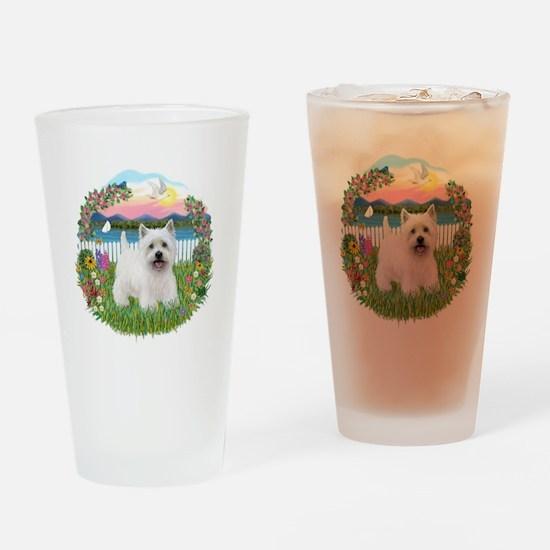 Garden-Shore-Westie#5 Drinking Glass