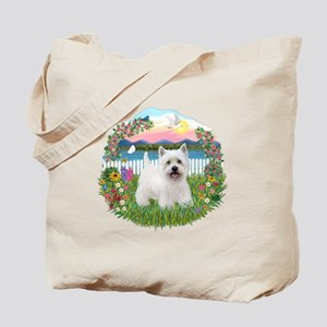 Garden-Shore-Westie#5 Tote Bag