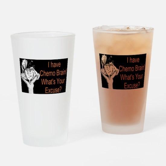 Chemo Brain Drinking Glass