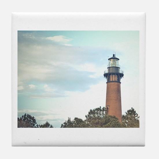 Currituck Beach Light Tile Coaster